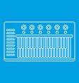music synthesizer icon outline style vector image vector image