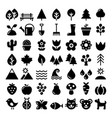 nature icons set park outdoors animals vector image vector image