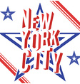 New York City retro vintage typography poster vector image vector image