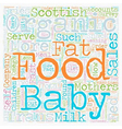 Organic Baby Food A Big Hit In Scotland text vector image vector image