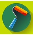 Paint Roller Icon home repair apartments symbol vector image vector image