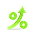 Percent up arrow icon vector image vector image