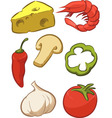 Pizza Ingredient Tomato Cheese Pepper Onion vector image vector image