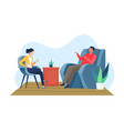 psychotherapy counseling concept vector image