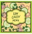 Raw green menu on the tender rose background vector image vector image