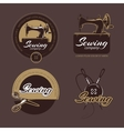 Retro sewing and tailoring logo labels vector image vector image