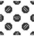 safety first octagonal shape icon seamless pattern vector image vector image