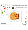 sammarinese cuisine european national dish vector image