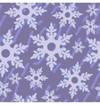 Seamless abstract snowflake grunge texture 535 vector image