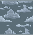 seamless texture with clouds template for vector image vector image