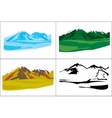 Selection of the landscapes with mountain vector image