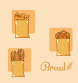 set of bread icons vector image