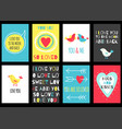 set of valentine banners vector image vector image