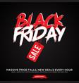 simple design letter black friday sale banner vector image vector image