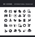 simple icons international vegan day vector image vector image