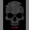 skull a mark danger warning t-shirt vector image vector image