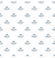 smart time pattern seamless vector image vector image