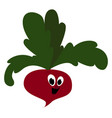 smilling beet on white background vector image vector image