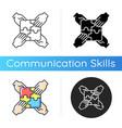 teamwork building icon vector image