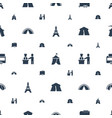 tourist icons pattern seamless white background vector image vector image