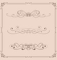 vintage ornaments and frames on beige background vector image vector image