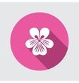 Viola violet nasturtium pansy flower icon vector image vector image