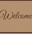welcome mat vector image