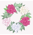 Wreath with pink and white peonies vector image vector image