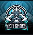 yeti games esport mascot logo design vector image vector image