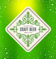 Beer label with flourishes emblem vector image