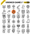 fancy vikings game icons vector image
