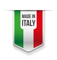 Made in Italy flag ribbon vector image