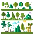 flat trees vector image