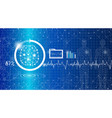 abstract background technology concept in blue vector image vector image