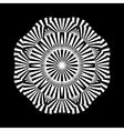 Abstract circle ornament vector image vector image