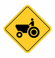 agricultural machinery traffic sign vector image vector image