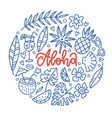 aloha tropical paradise banner template with vector image vector image