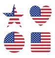 American United States Flag in form button of icon vector image