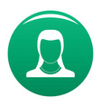 best woman user icon green vector image