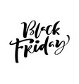 black friday calligraphy lettering text vector image vector image
