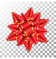 bow ribbon red christmas isolated vector image vector image