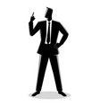 businessman with a finger pointed up vector image vector image