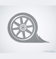 car wheel abstract sign for your design vector image