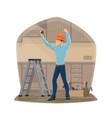 carpenter or handyman repair work tools vector image vector image