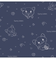 Cartoon seamless pattern with cute catsny cats vector image vector image
