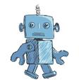 children robot vector image vector image