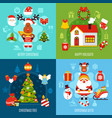 christmas flat concept vector image vector image