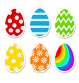 colored bright easter eggs in cartoon style on vector image vector image