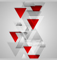 Corporate geometric background with grey and red vector image vector image