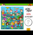 counting children characters educational task vector image vector image